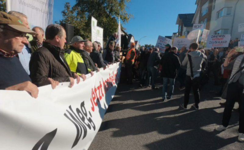 Demonstration zur Agrarministerkonferenz