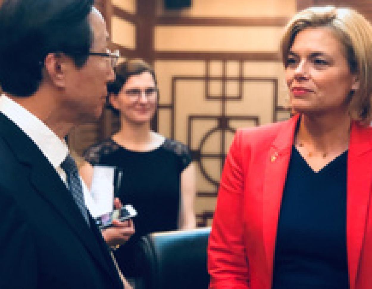 China-Reise von Julia Klöckner wirkt positiv