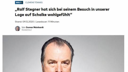 Clemens Tönnies gibt Interview